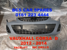 VAUXHALL  CORSA  D   FRONT  BUMPER WITH  3X  GRILLS  NEW  2012 - 2013 -  2014